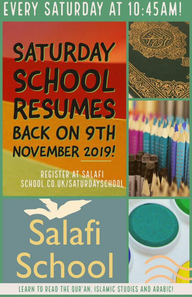 Saturday School is Back on this Saturday 9th November!
